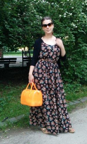 Maxikleid Gr S M 36 38 schwarz kleid Maxi lang bodenlang blogger sommer musthave