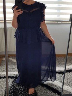 MaxiKleid gr. XL (42/44) YAS by Vero Moda langes Kleid Sommerkleid Volants Spitze NEU