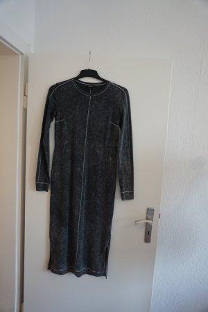 Monki Vestido de tubo gris claro-blanco Algodón