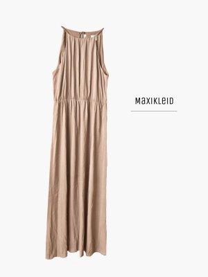 Maxikleid in nude puderton lang luftig leicht zum schüren / H&M / 46