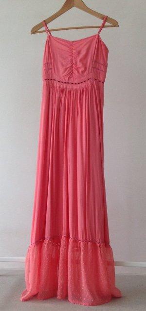 Vestido largo rojo claro Viscosa