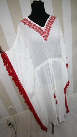 Maxikleid Kaftan Sommer Fransen Festival Kleid