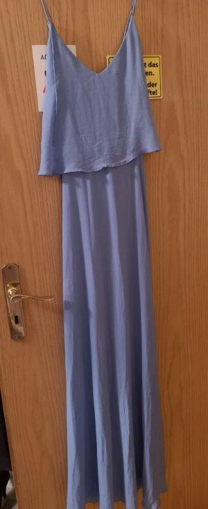 maxikleid kleid dress von zara hellblau blau blogger