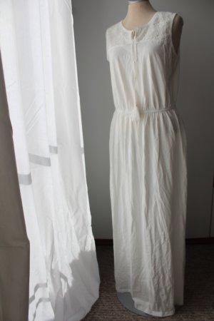 Maxikleid Kleid lang Sommerkleid creme weiß Spitze neu Gr. 40/42 M L Spitze 100% Baumwolle