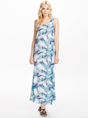 Maxikleid Langes kleid Abendkleid Gemustertes Kleid Vero Moda Gr. L 38/40 Bohokleid Boho