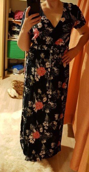 MaxiKleid M (38) Pieces langes Kleid Wickelkleid Sommerkleid € 65,- Blumenprint Blumenkleid