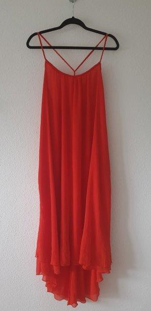 Mango Robe longue rouge polyester