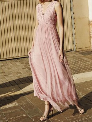 Maxikleid, Maxi Langes Kleid Vila Sommerkleid Gr. 38 (M) auch als Umstandskleid
