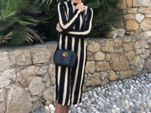 Zara Robe longue doré-noir