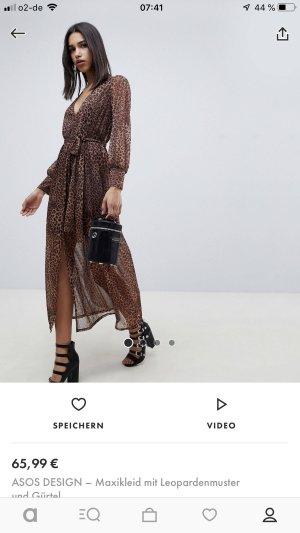 Asos Maxi-jurk zwart-bruin