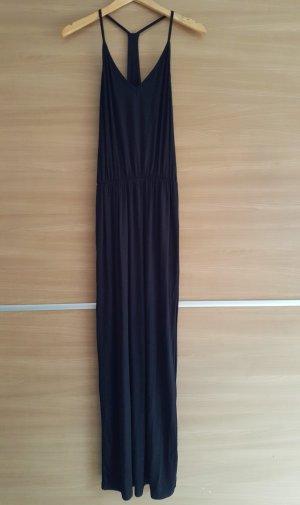 Maxikleid mit schönem Rückenausschnitt in Schwarz Gr. 40