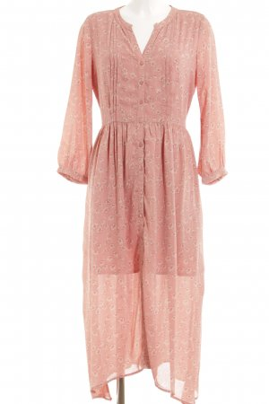 Maxikleid rosa-pink Blumenmuster Country-Look