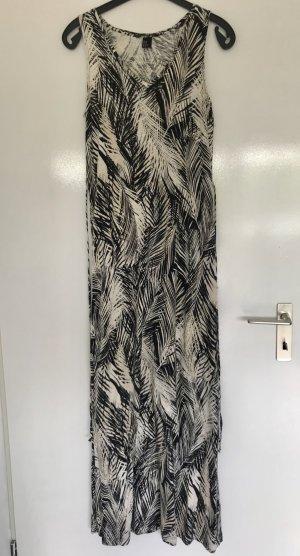 Maxikleid schwarz/weiß, XS