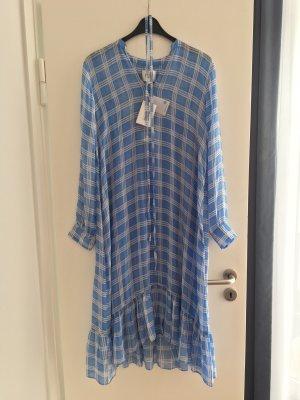 Second Female Maxi-jurk korenblauw-wit