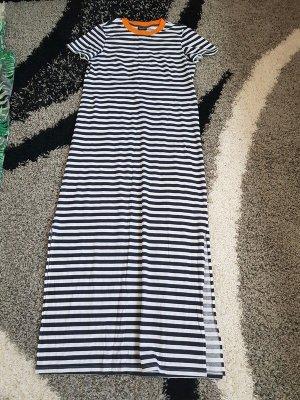 Maxikleid Shirtkleid langes Kleid Streifen Noisy May Gr. L (40) Streifen 100% Baumwolle