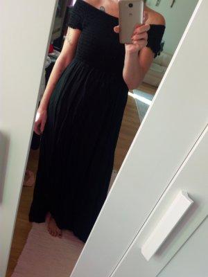 Robe longue noir polyester