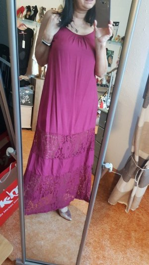 Vestido largo púrpura