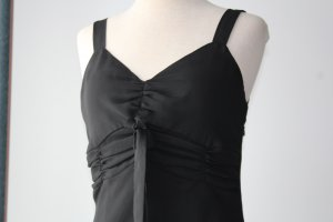 Maxikleid Träger schwarz ashley brooke Designer Mode Gr. 38 S M gerafft gothic Kleid Zipfelkleid