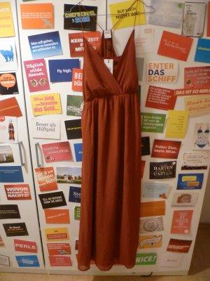 Vero Moda Maxi Dress cognac-coloured-russet polyester