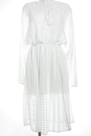 Vestido largo blanco Poliéster