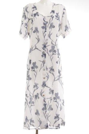 Maxi-jurk wit bloemenprint casual uitstraling