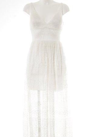 Vestido largo blanco look Street-Style