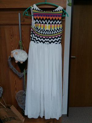 Robe longue blanc cassé