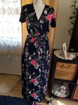 MaxiKleid XL (40/42) Pieces langes Kleid Wickelkleid Sommerkleid € 65,- Blumenprint Blumenkleid