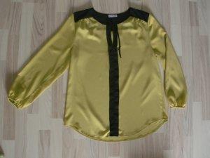 Maxima Fashion Bluse Sommerbluse Gr. 44 khaki/ grün schwarz made in Germany Top