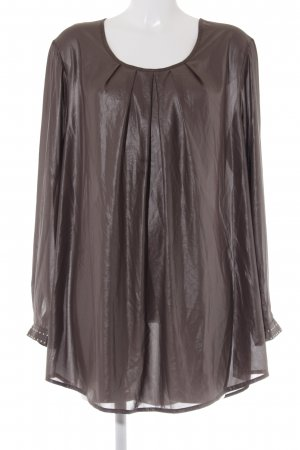 Maxima Fashion Transparenz-Bluse taupe Casual-Look