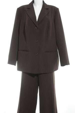 Maxime Pinstripe Suit dark brown-white pinstripe business style