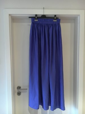 Mango Jupe longue bleu polyester