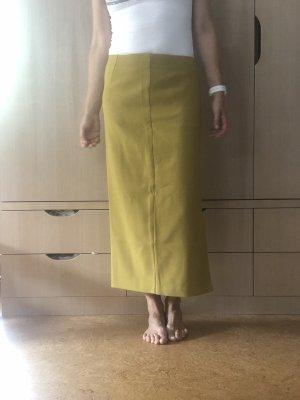 Avalon Falda de talle alto amarillo limón
