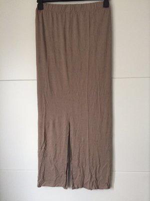 Jupe longue gris brun