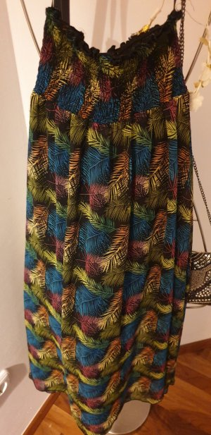 Janina Maxi Skirt black-lime-green