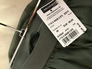 Hallhuber Maxi Skirt khaki-green grey silk