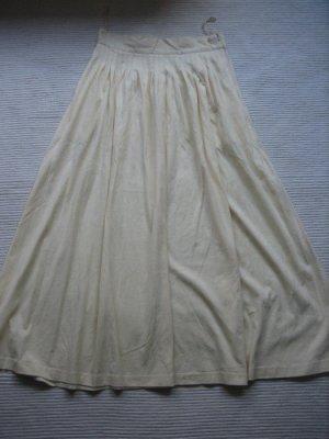 maxirock baumwolle neu gelb pastell gr. 36 s