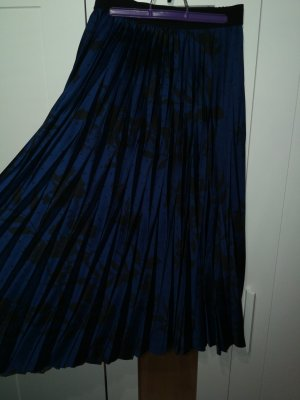 Falda larga negro-azul oscuro Fibra sintética
