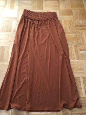 3 Suisses Maxi Skirt cognac-coloured