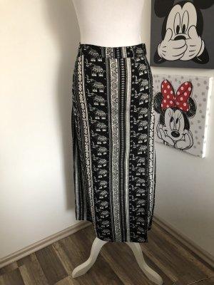 H&M Maxi Skirt black-white