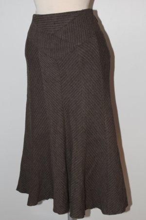 Falda midi marrón claro-marrón