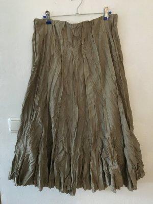 Falda larga marrón arena
