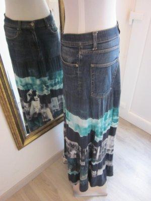 Maxirock Jeans & Jersey Blau türkies Gr 40/42