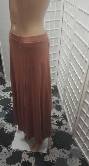 mbyM Falda larga color rosa dorado-nude Algodón