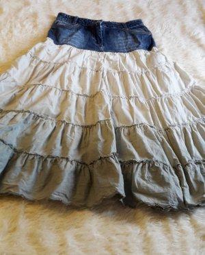 Maxi Skirt blue-natural white