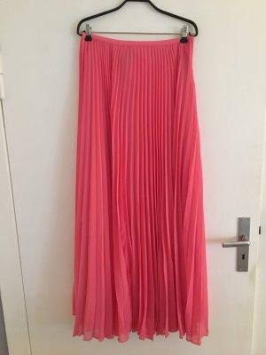 Mango Falda larga rosa