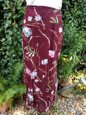 #Maxirock, mit Unterrock, Blumenmuster