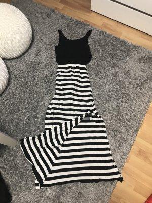 Falda larga negro-blanco