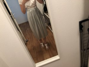 H&M Pleated Skirt silver-colored