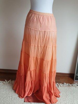 Denim & Supply Ralph Lauren Maxi gonna arancione-albicocca Cotone